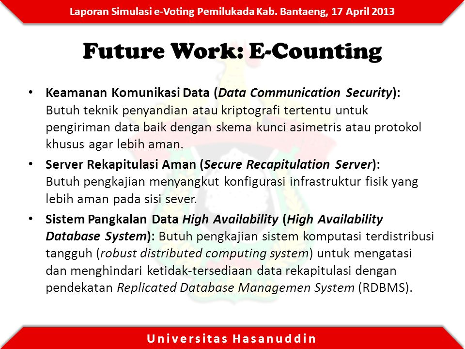 Future Work: E-Counting