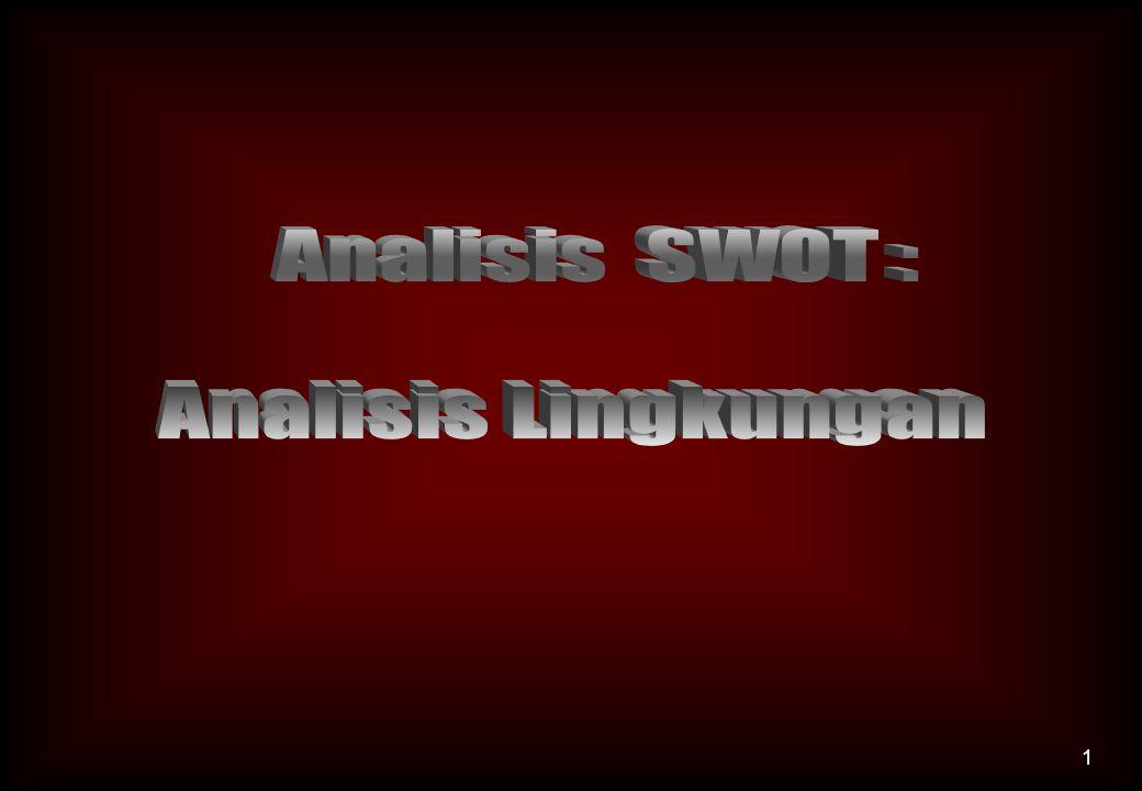 Analisis SWOT : Analisis Lingkungan