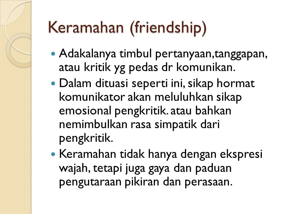 Keramahan (friendship)