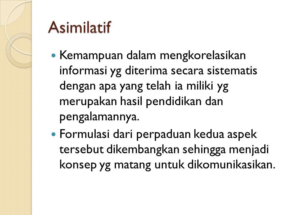 Asimilatif
