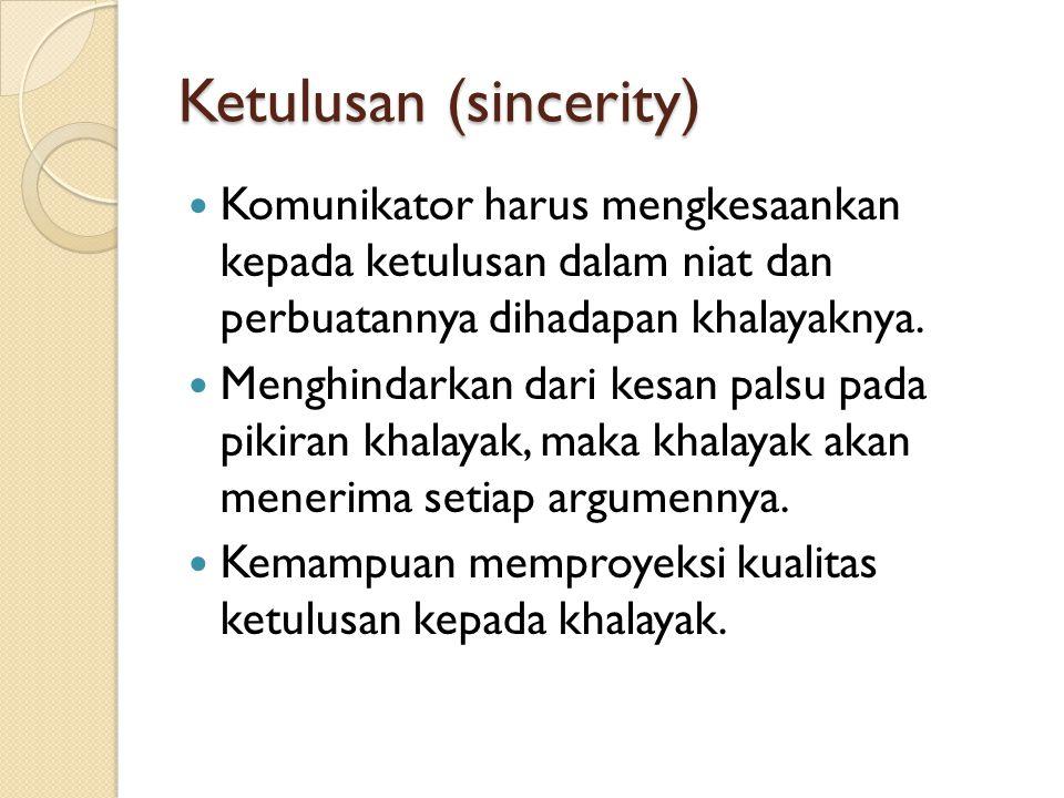 Ketulusan (sincerity)