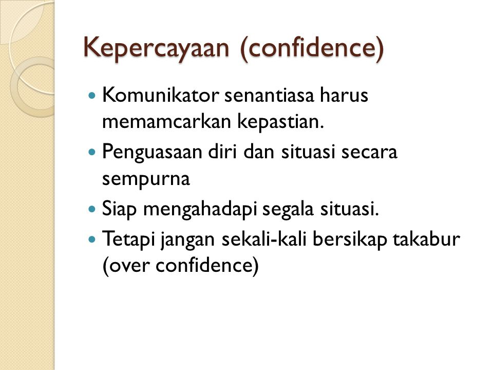 Kepercayaan (confidence)