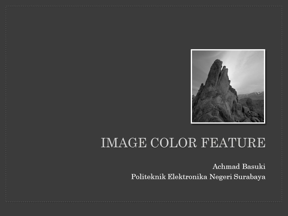 Image color feature Achmad Basuki