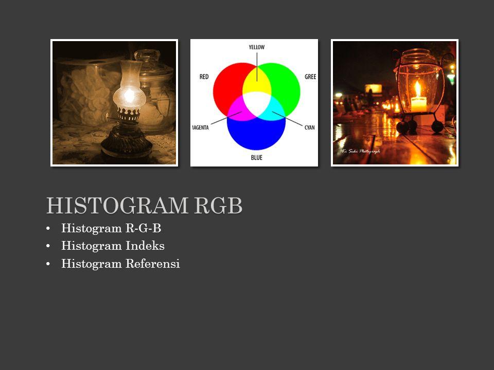 HISTOGRAM RGB Histogram R-G-B Histogram Indeks Histogram Referensi