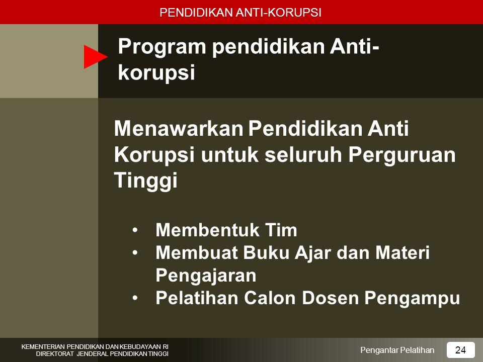 Program pendidikan Anti-korupsi