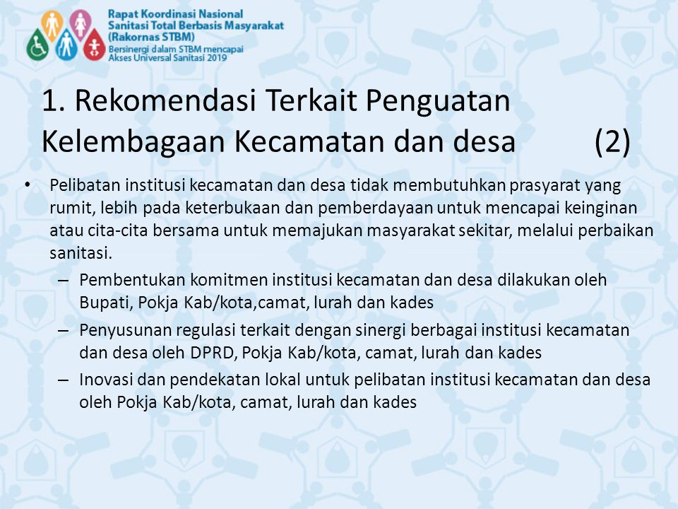 1. Rekomendasi Terkait Penguatan Kelembagaan Kecamatan dan desa (2)