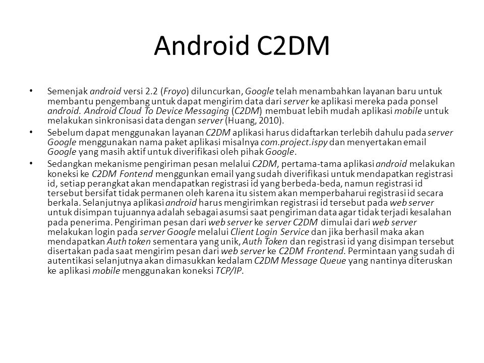Android C2DM