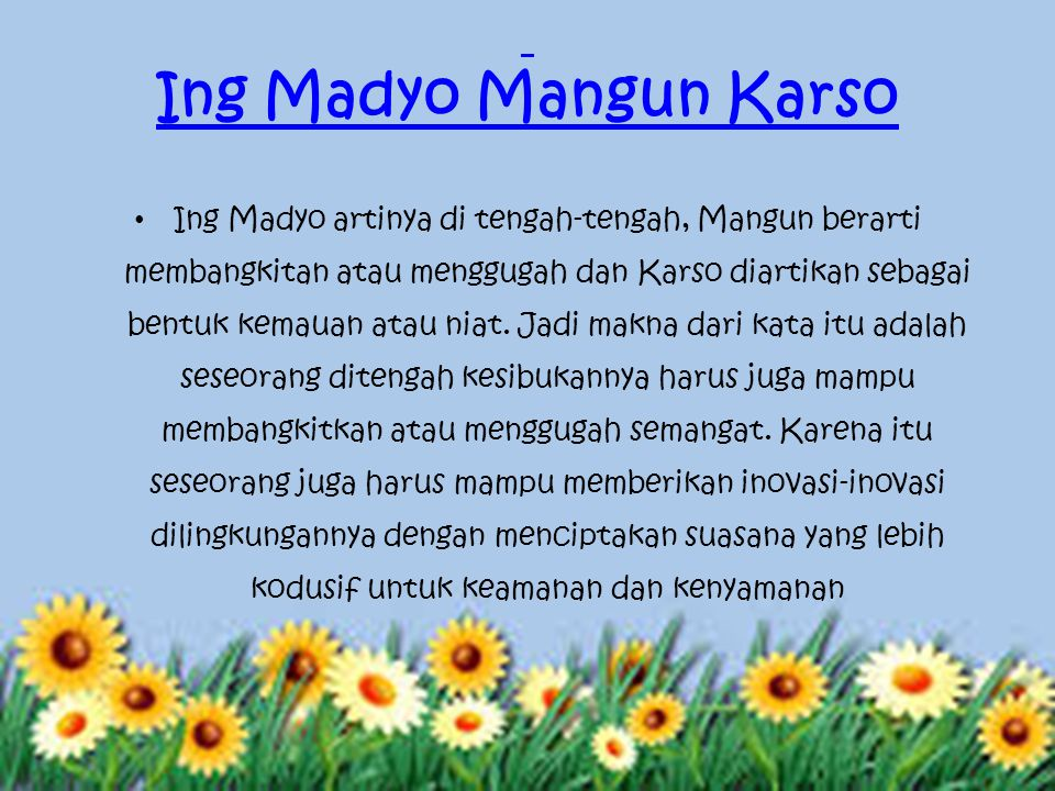 Ing Madyo Mangun Karso
