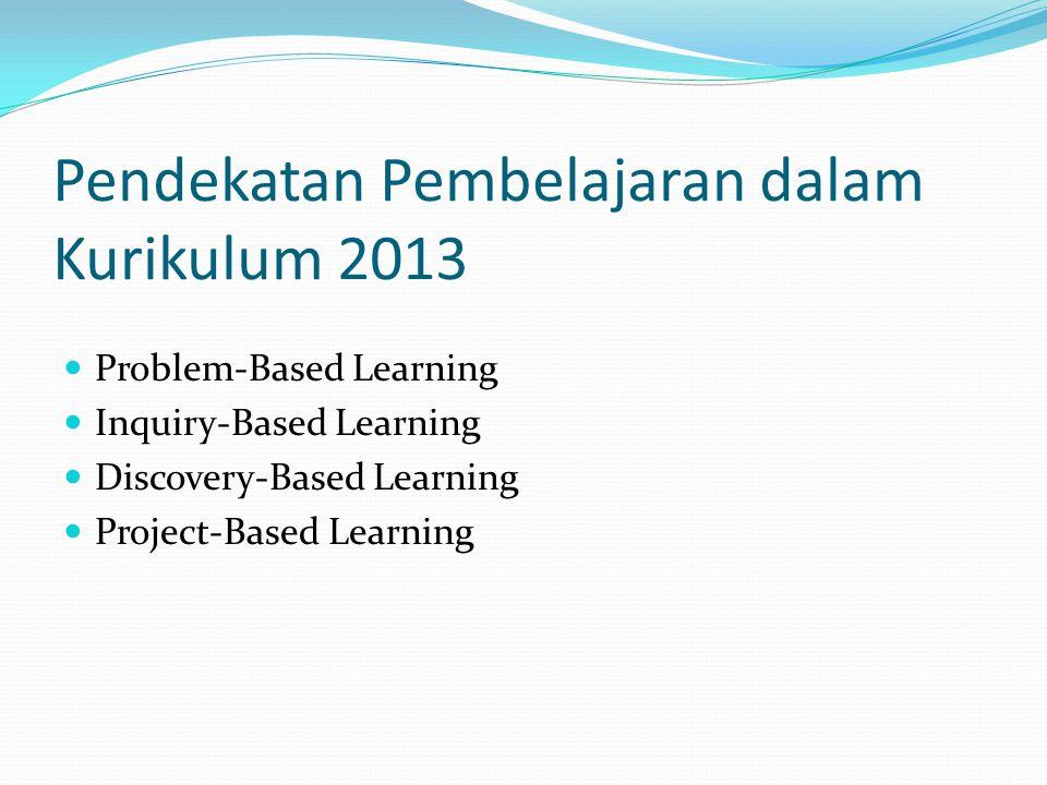 Pendekatan Pembelajaran dalam Kurikulum 2013