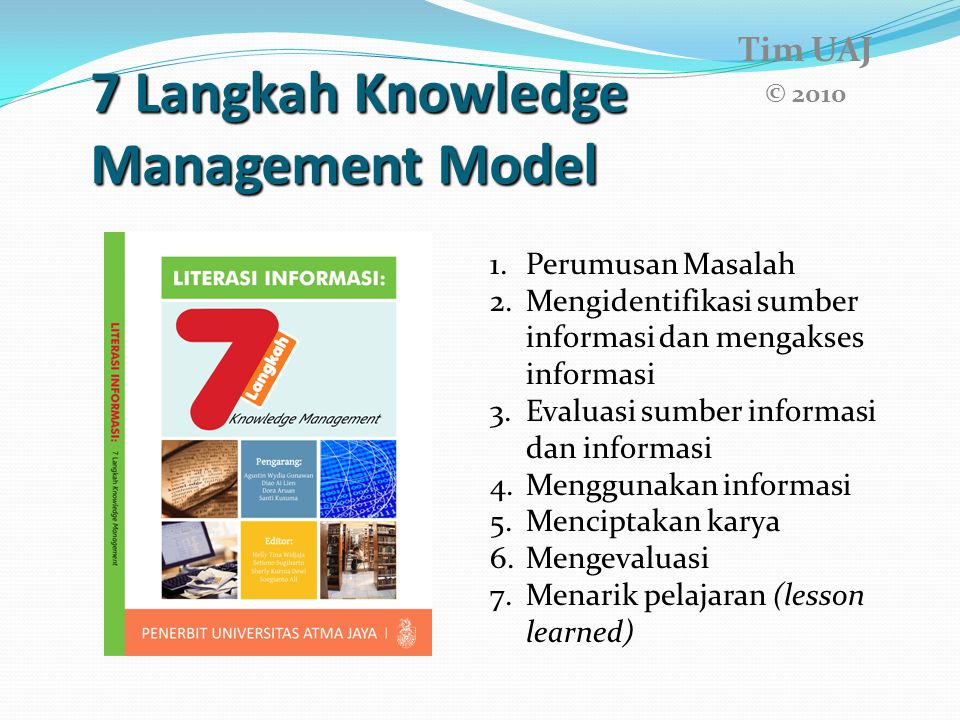 7 Langkah Knowledge Management Model