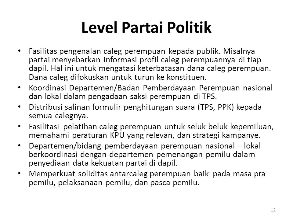 Level Partai Politik