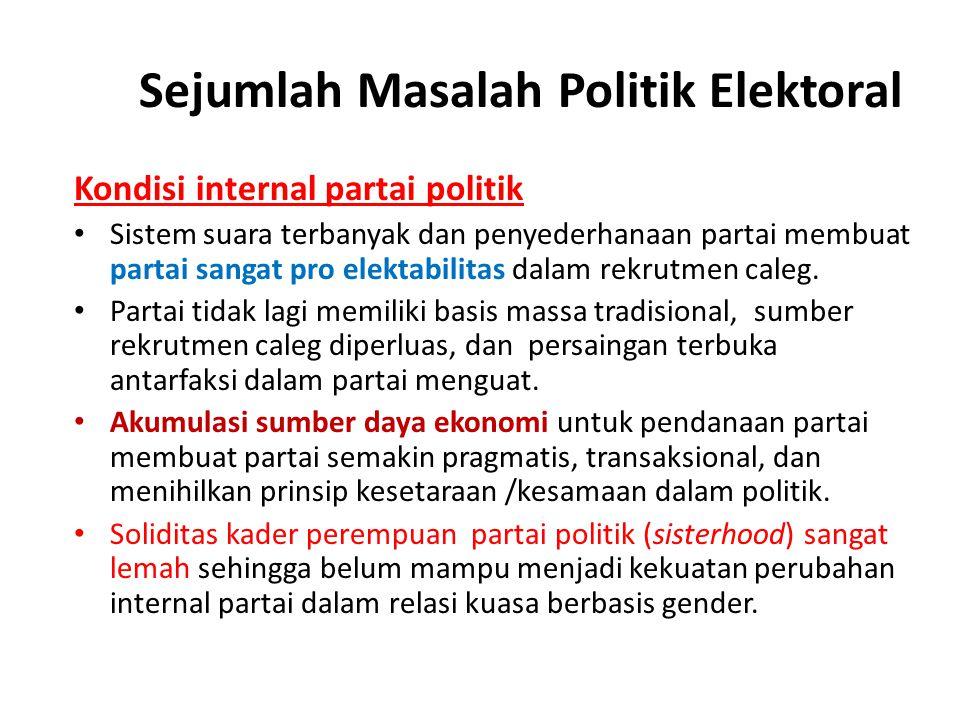 Sejumlah Masalah Politik Elektoral