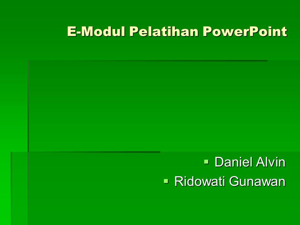 E-Modul Pelatihan PowerPoint