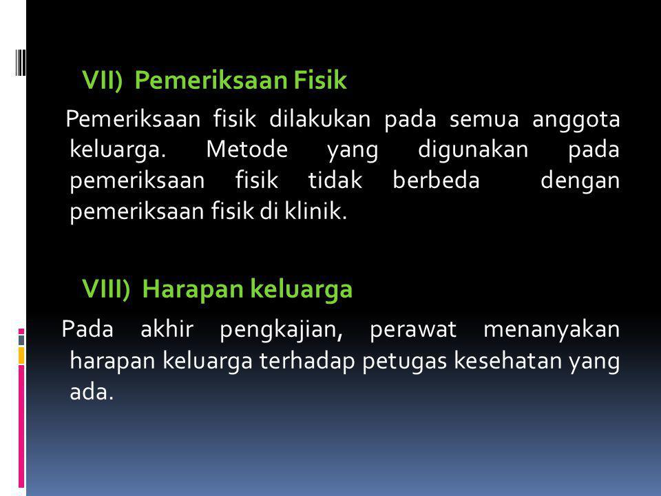 VII) Pemeriksaan Fisik