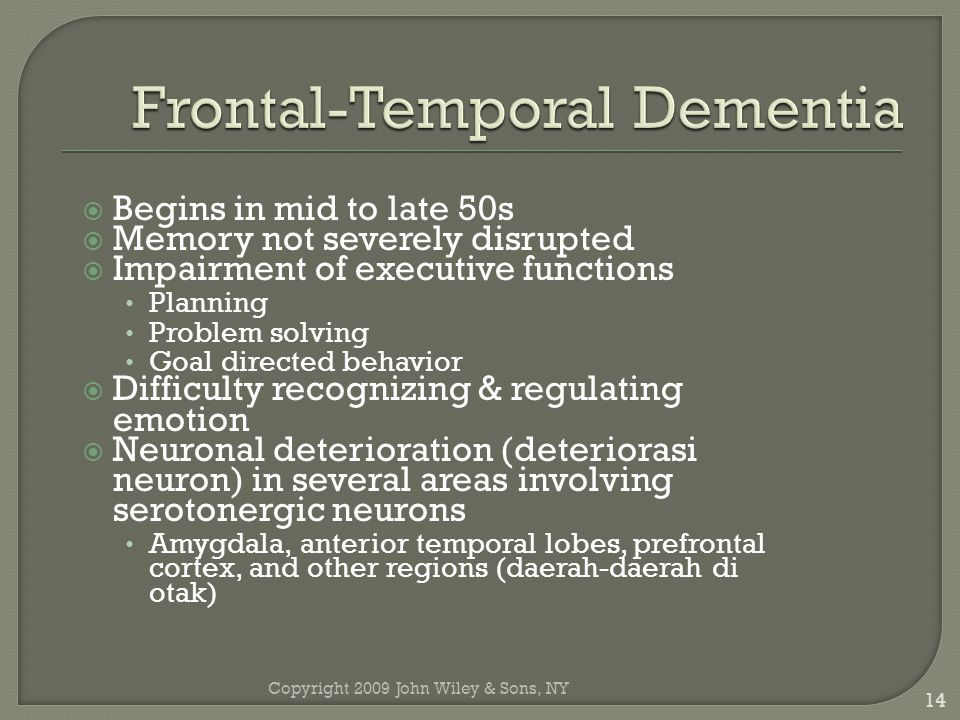 Frontal-Temporal Dementia