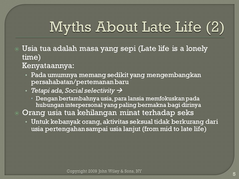 Myths About Late Life (2)