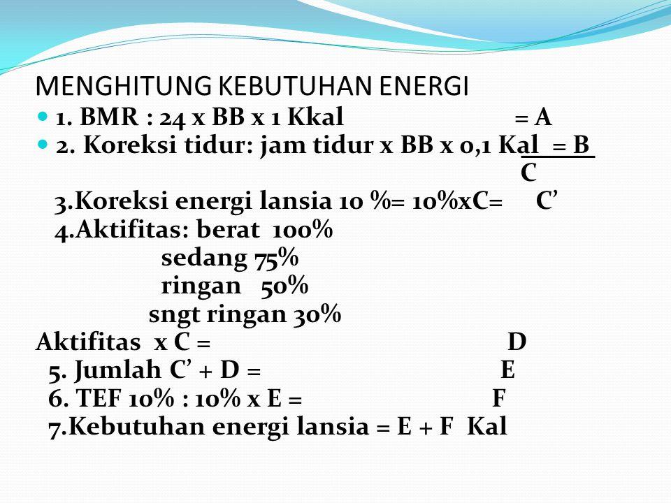 MENGHITUNG KEBUTUHAN ENERGI