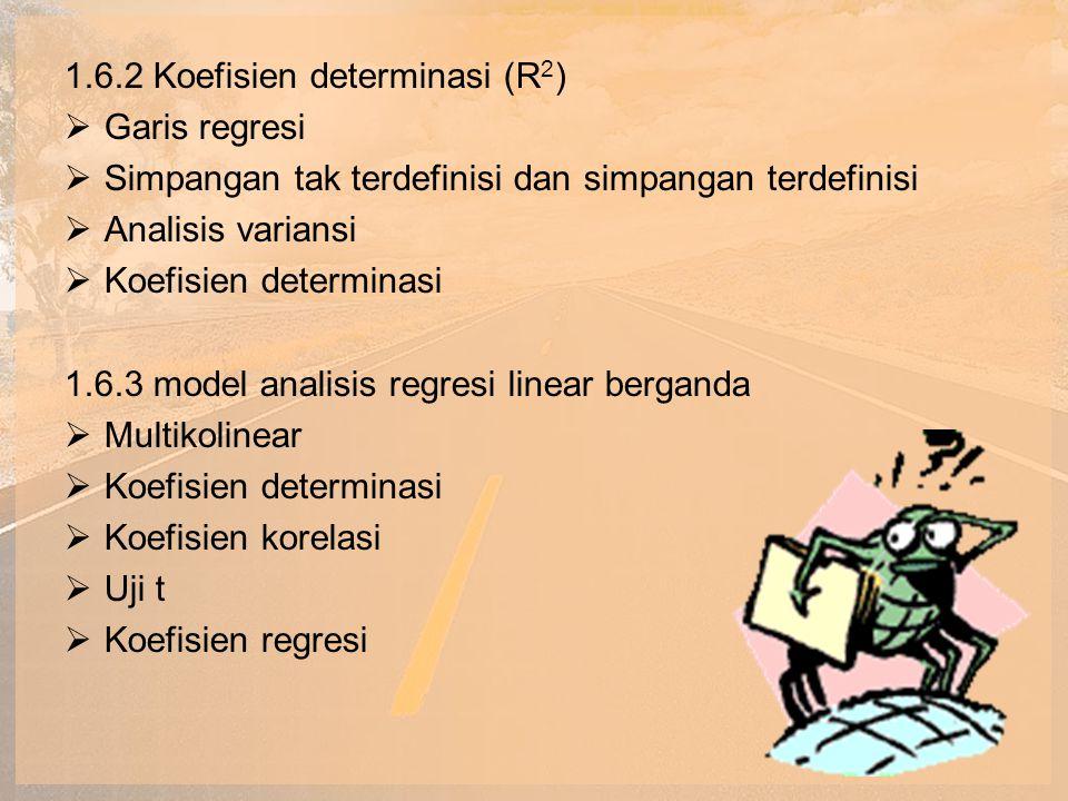 1.6.2 Koefisien determinasi (R2)