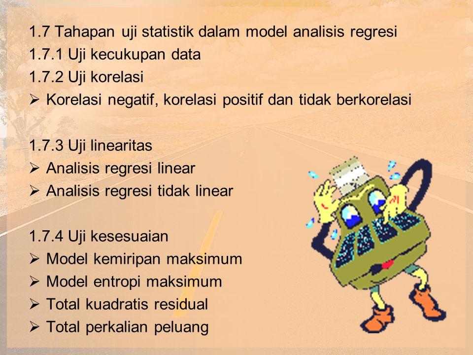 1.7 Tahapan uji statistik dalam model analisis regresi