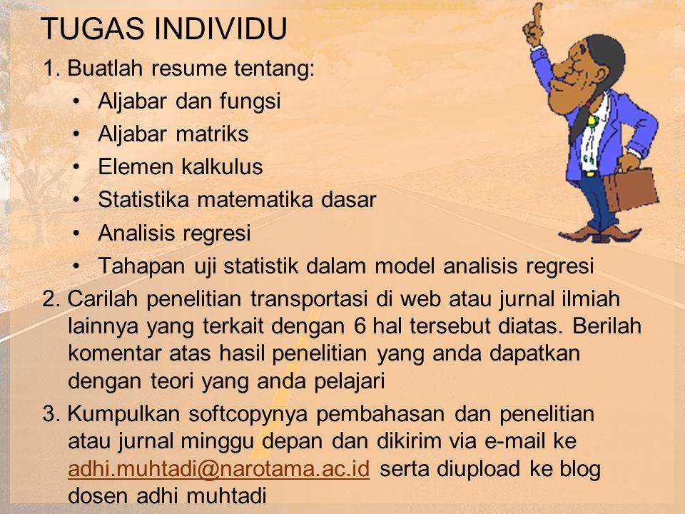 TUGAS INDIVIDU 1. Buatlah resume tentang: Aljabar dan fungsi