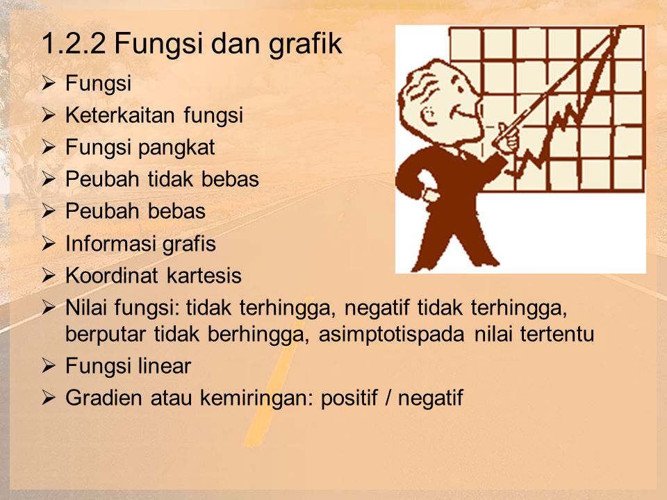 1.2.2 Fungsi dan grafik Fungsi Keterkaitan fungsi Fungsi pangkat