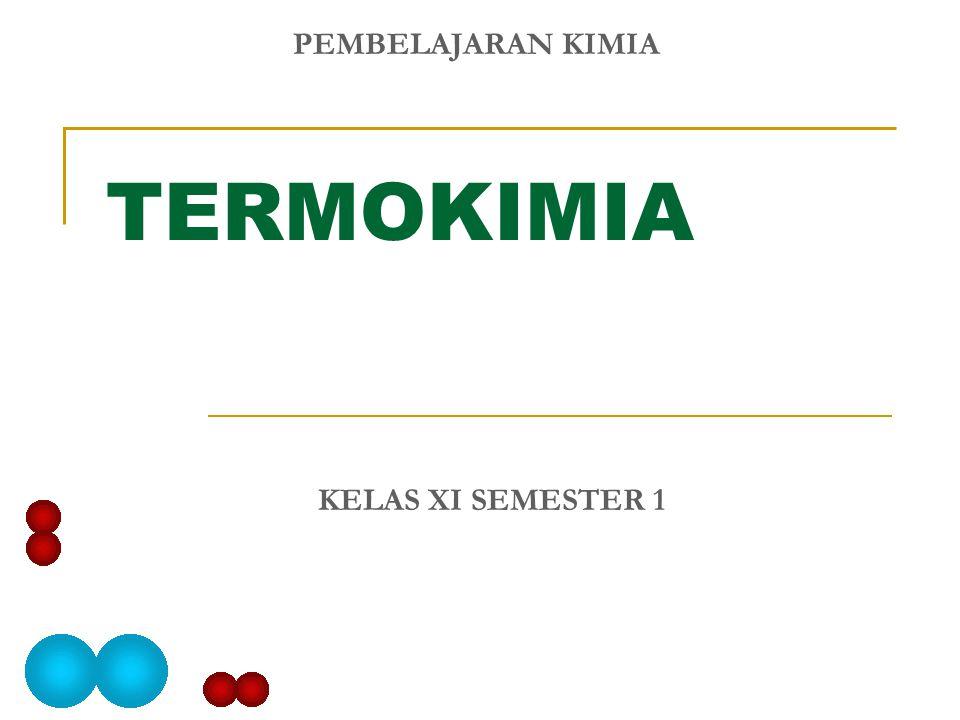 PEMBELAJARAN KIMIA TERMOKIMIA KELAS XI SEMESTER 1