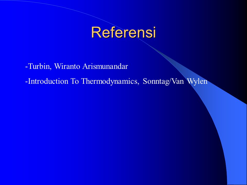 Referensi Turbin, Wiranto Arismunandar