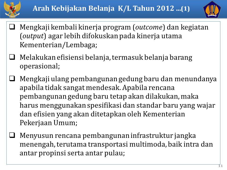 Arah Kebijakan Belanja K/L Tahun 2012 ...(1)