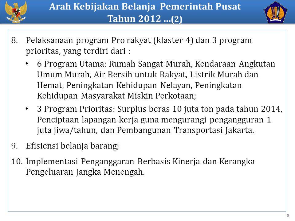 Arah Kebijakan Belanja Pemerintah Pusat Tahun 2012 ...(2)