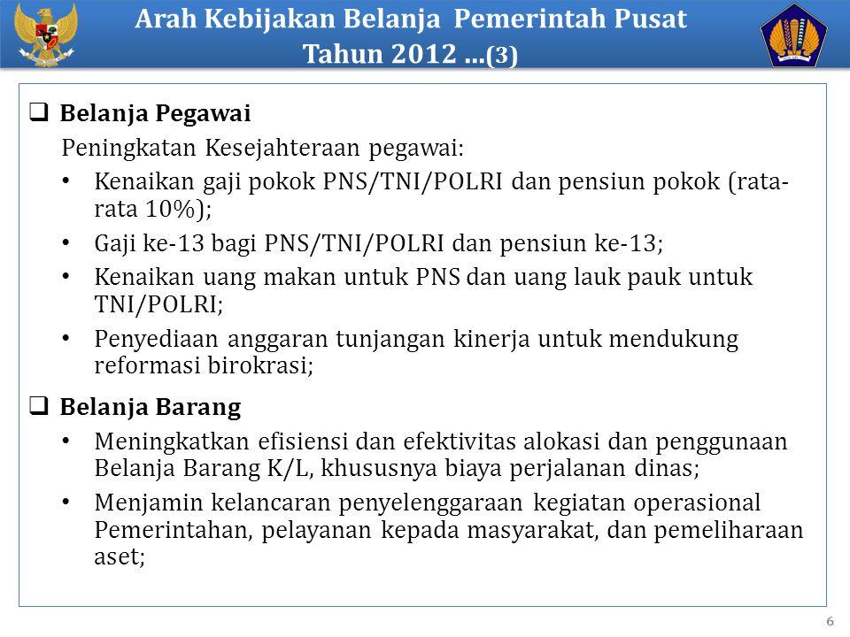 Arah Kebijakan Belanja Pemerintah Pusat Tahun 2012 ...(3)