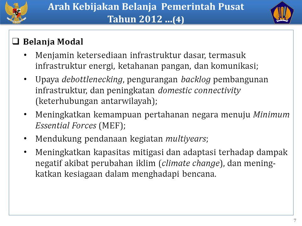 Arah Kebijakan Belanja Pemerintah Pusat Tahun 2012 ...(4)