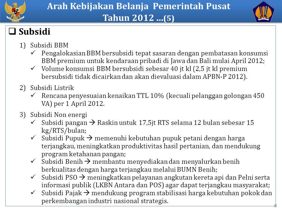 Arah Kebijakan Belanja Pemerintah Pusat Tahun 2012 ...(5)