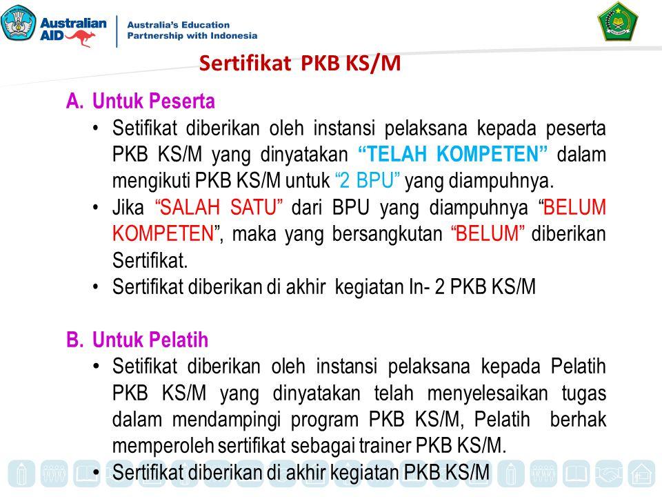 Sertifikat PKB KS/M Untuk Peserta