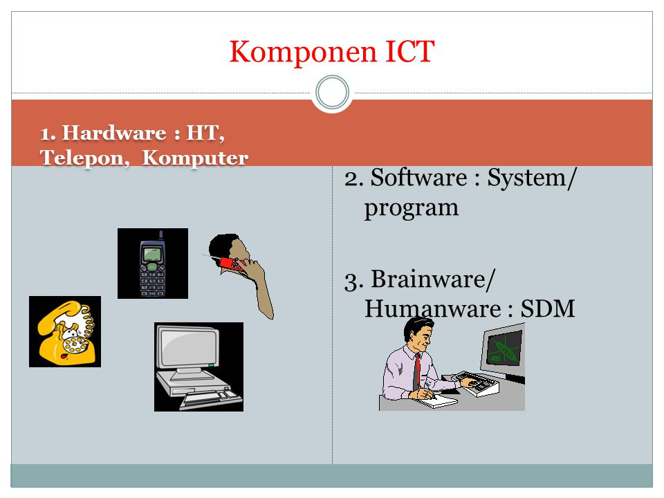 Komponen ICT 2. Software : System/ program