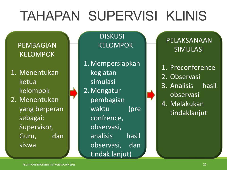 TAHAPAN SUPERVISI KLINIS
