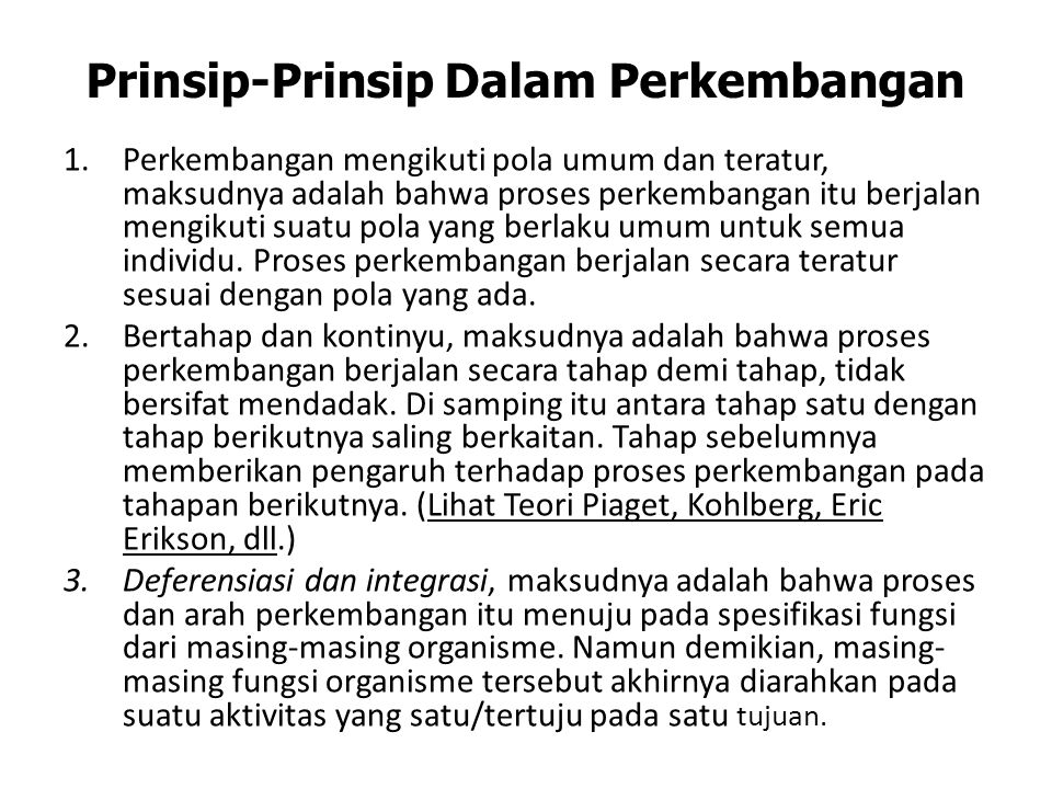 Prinsip-Prinsip Dalam Perkembangan