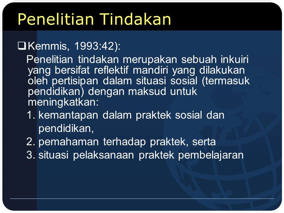 Penelitian Tindakan Kemmis, 1993:42):