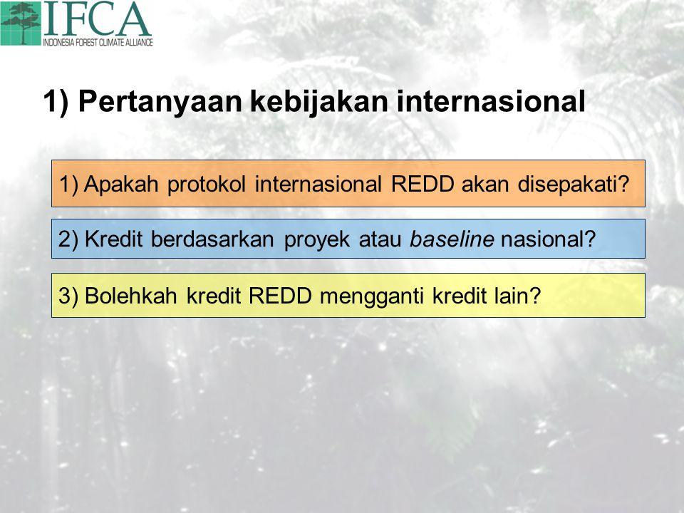 1) Pertanyaan kebijakan internasional