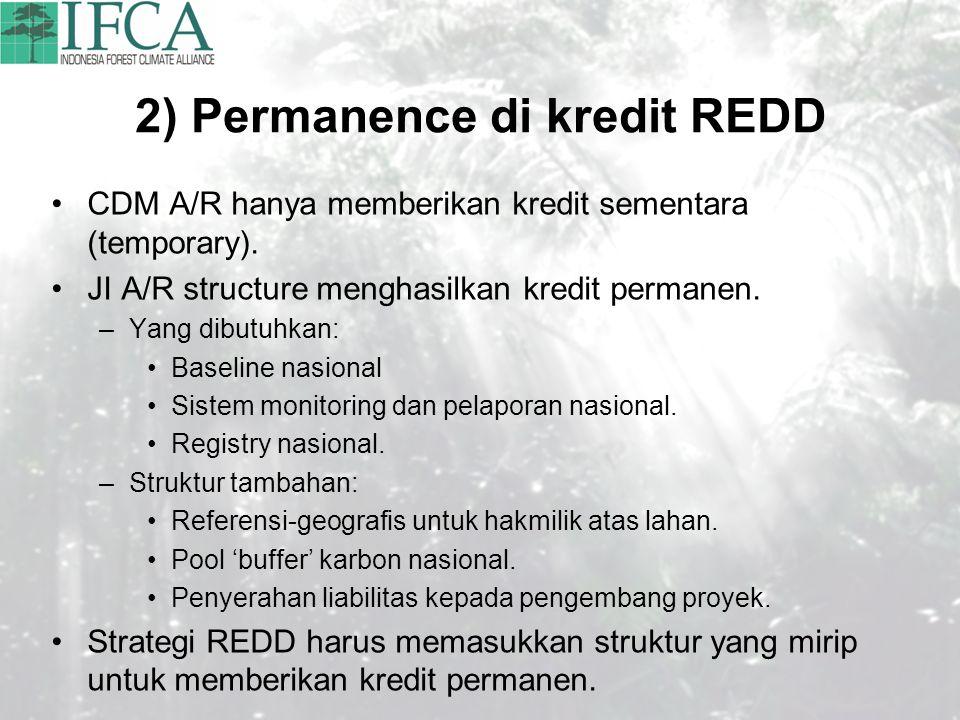 2) Permanence di kredit REDD