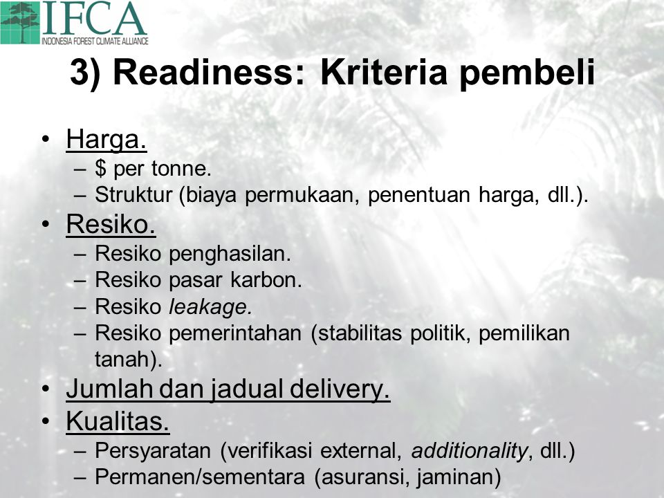 3) Readiness: Kriteria pembeli