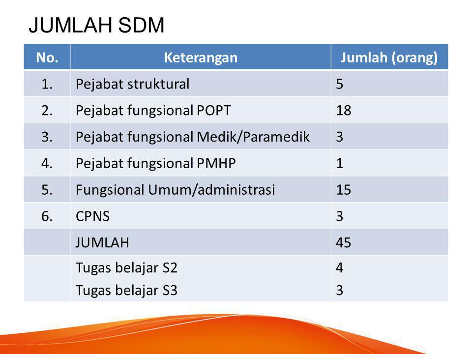 JUMLAH SDM No. Keterangan Jumlah (orang) 1. Pejabat struktural 5 2.