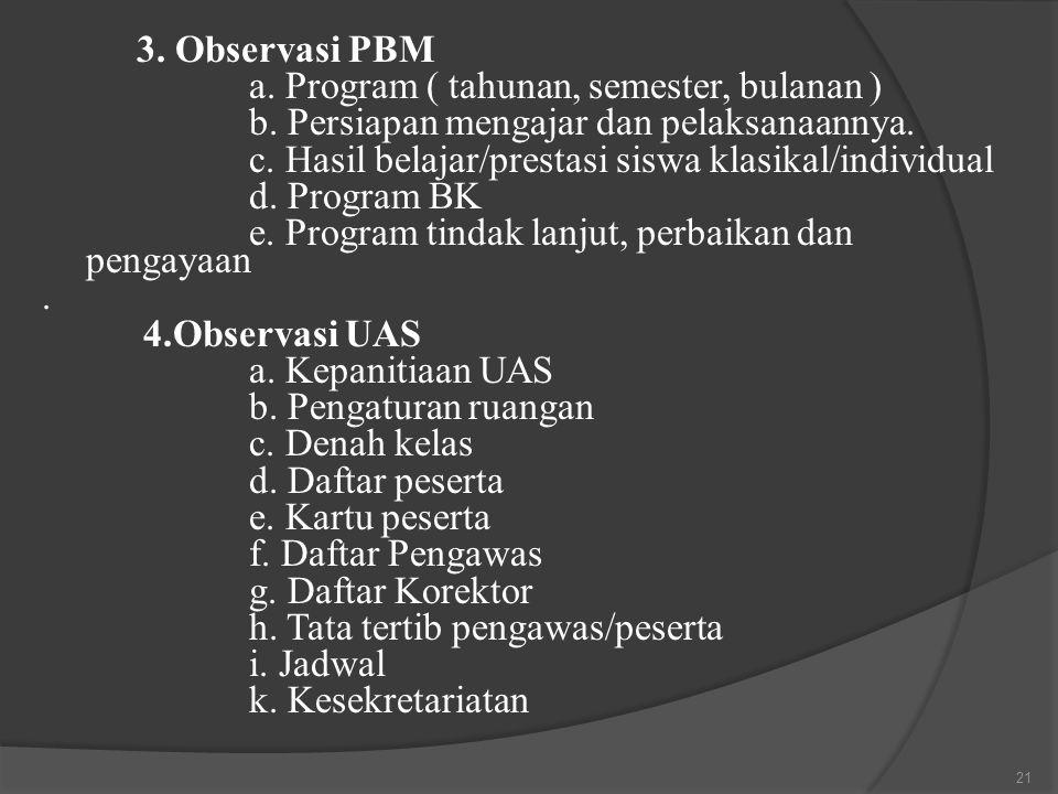 a. Program ( tahunan, semester, bulanan )