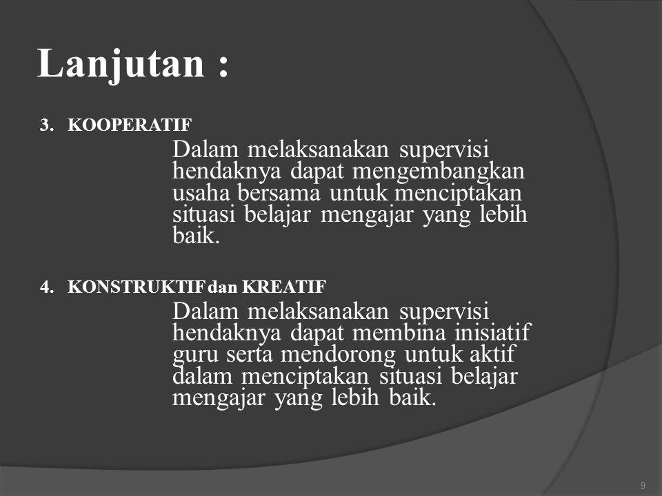 Lanjutan : 3. KOOPERATIF.