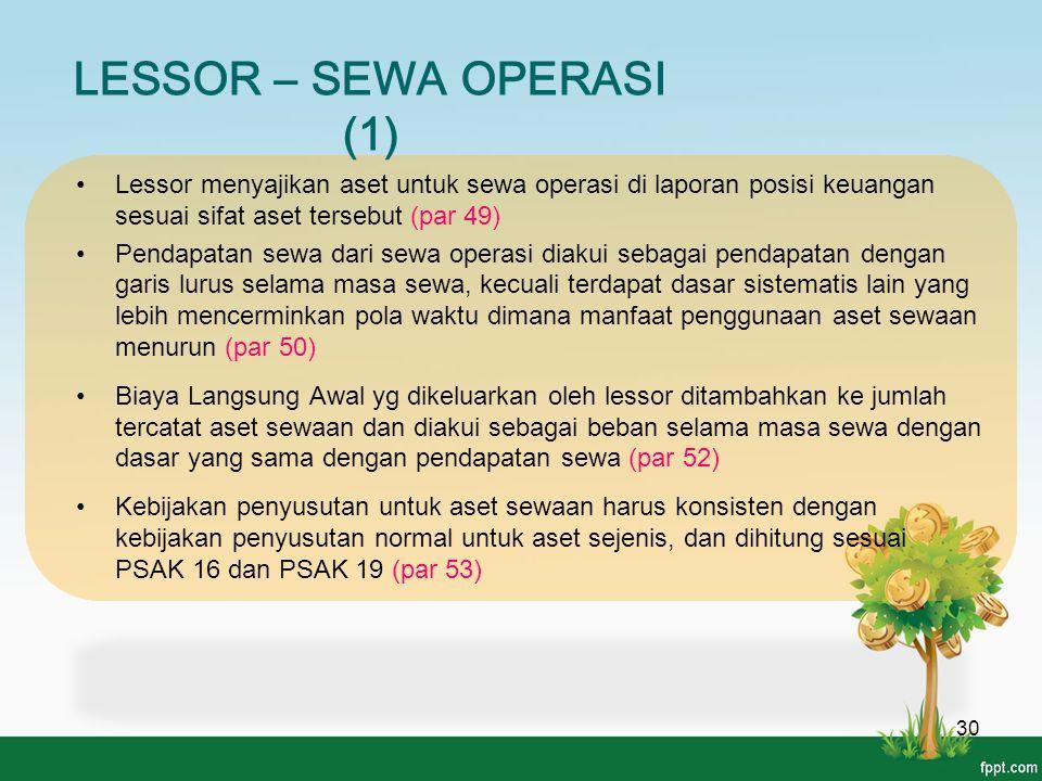 LESSOR – SEWA OPERASI (1)