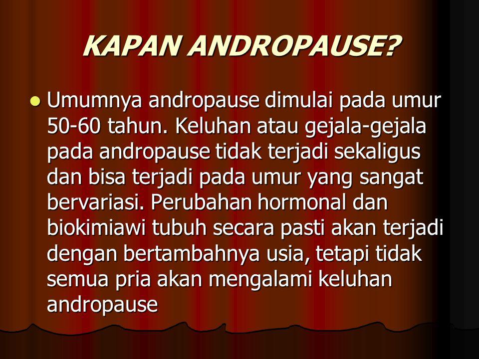KAPAN ANDROPAUSE