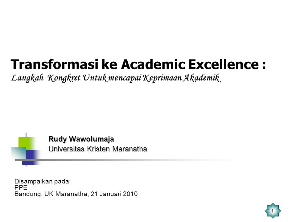 Rudy Wawolumaja Universitas Kristen Maranatha