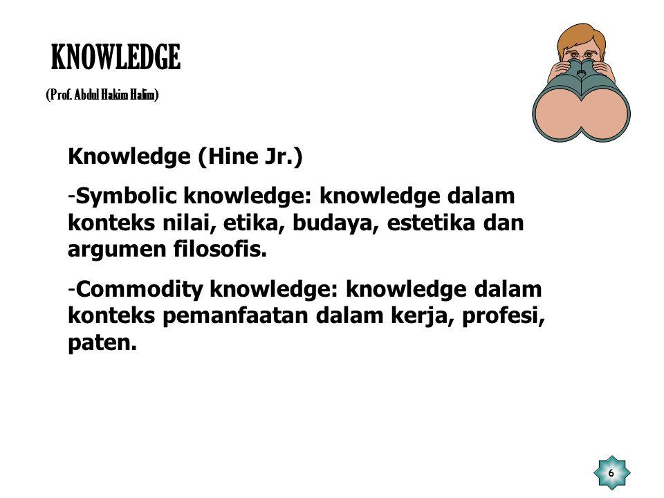KNOWLEDGE Knowledge (Hine Jr.)