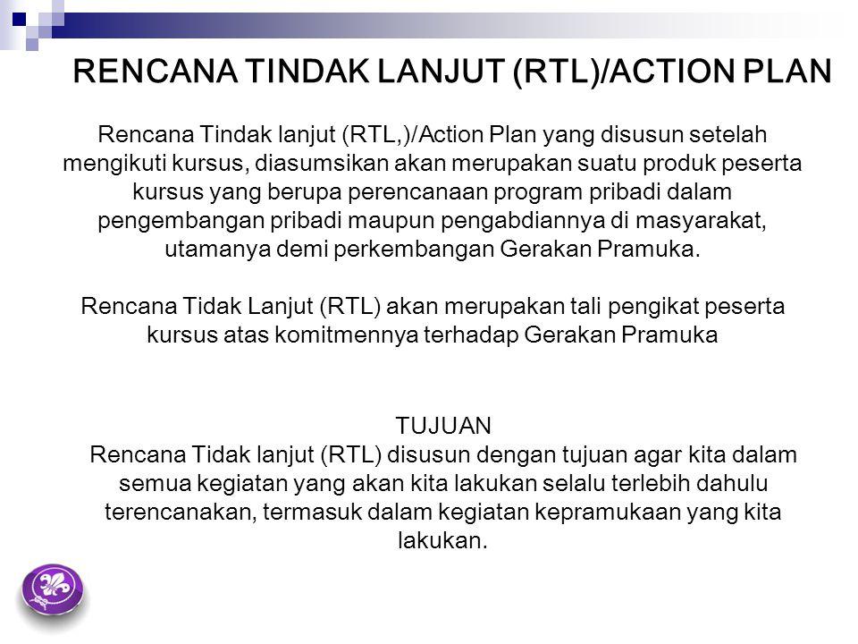 RENCANA TINDAK LANJUT (RTL)/ACTION PLAN