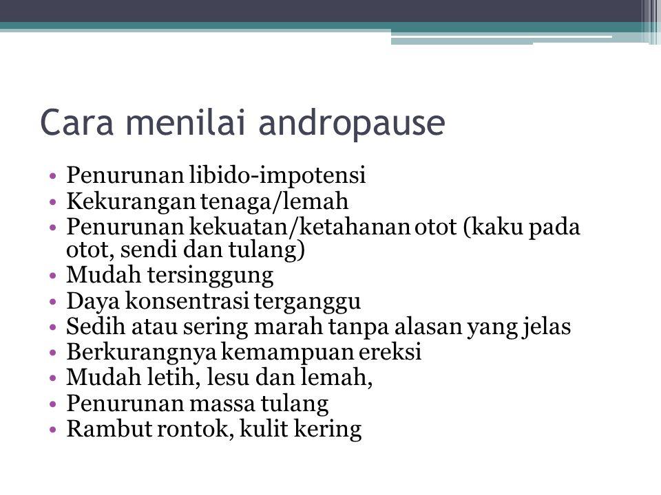 Cara menilai andropause