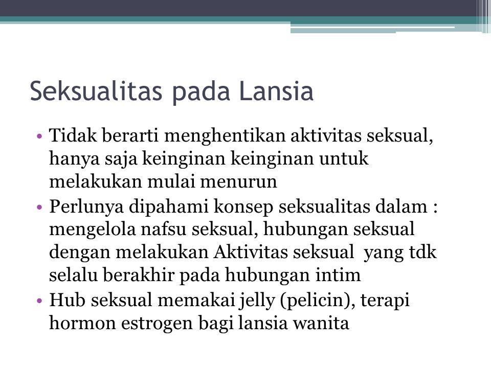 Seksualitas pada Lansia